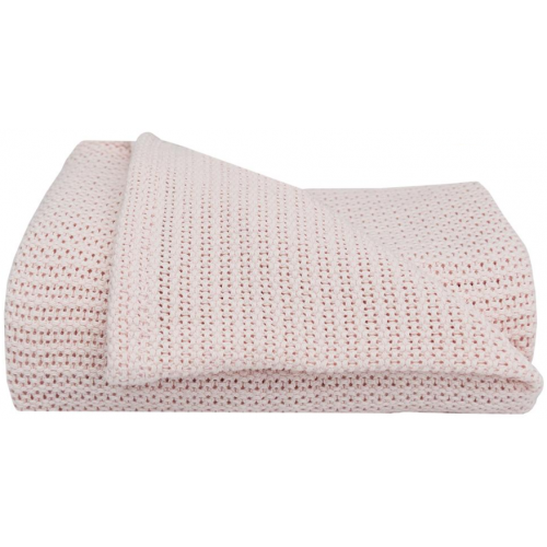 Living Textiles Organic Cot Cellular Blanket Rose