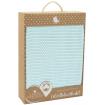 Living Textiles Organic Cot Cellular Blanket Aqua