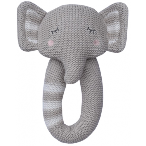 Living Textiles Knitted Rattle Theodore the Elephant