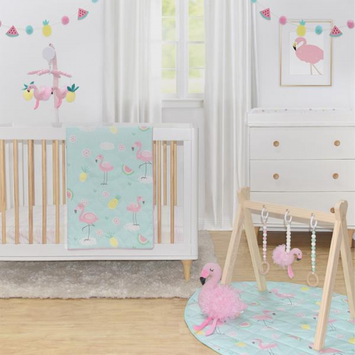 Lolli Living 4pc Nursery Set Flamingo