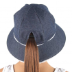 Bedhead Ponytail Bucket Hat Denim Ruffle