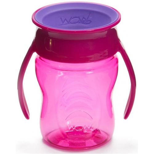 Wow Baby Spill Free Training Cup Pink