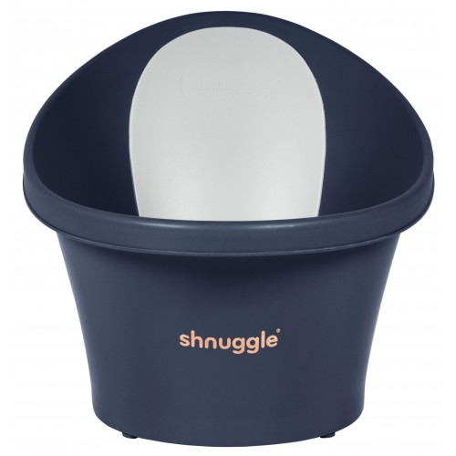 Shnuggle Baby Bath with Plug Navy