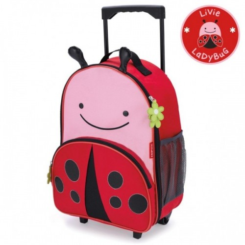 Skip Hop Zoo Rolling Luggage Lady Bug