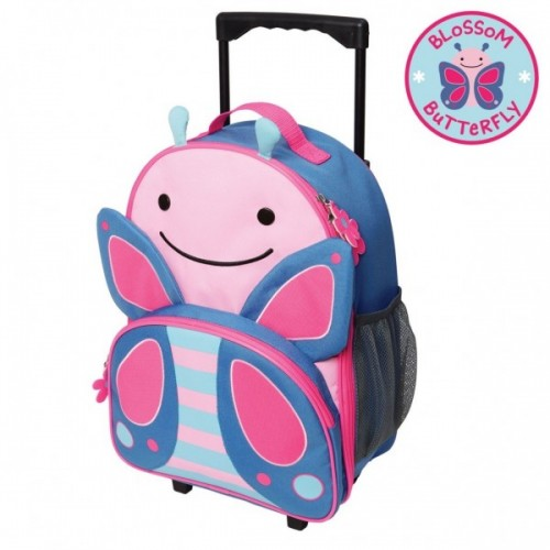 Skip Hop Zoo Rolling Luggage Butterfly