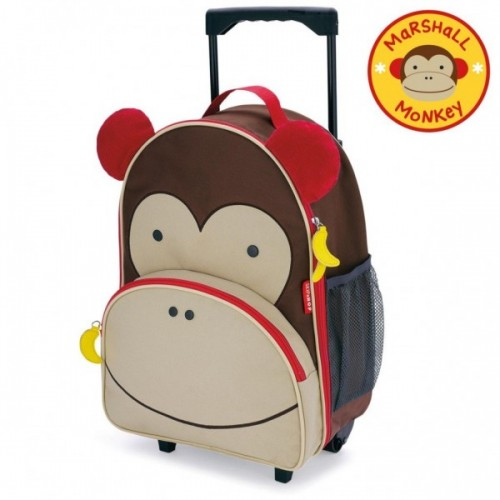 Skip Hop Zoo Rolling Luggage Monkey