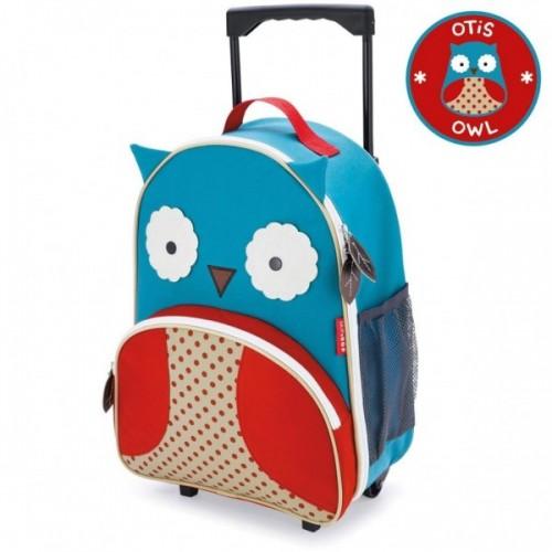 Skip Hop Zoo Rolling Luggage Owl