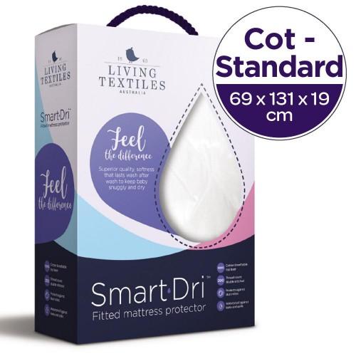 Living Textiles Standard Cot Smart Dri Mattress Protector