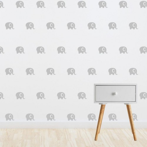 Living Textiles Wall Decals Grey Elephants