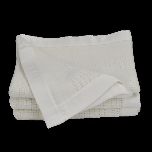 Living Textiles Bassinet/Cradle Cellular Blanket White