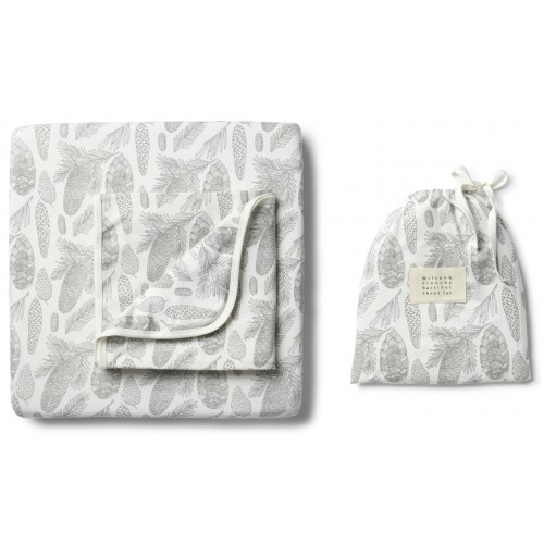 Wilson and Frenchy Bassinet Sheet Set Little Spruce