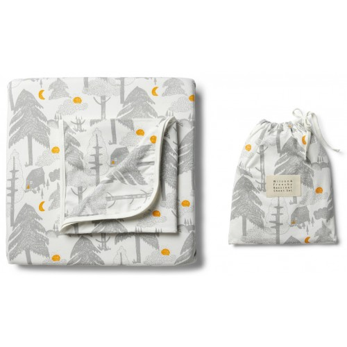 Wilson and Frenchy Bassinet Sheet Set Little Wander