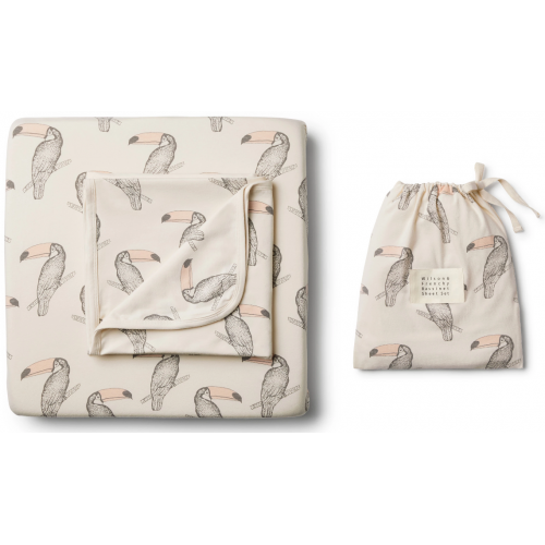Wilson and Frenchy Bassinet Sheet Set Toucan