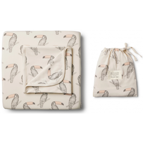 Wilson and Frenchy Cot Sheet Set Toucan