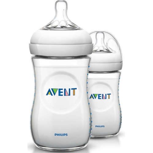 Avent Natural Baby Bottle 260ml Twin