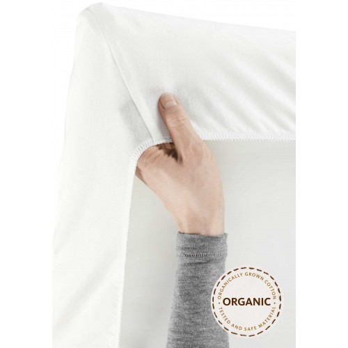 Baby Bjorn Fitted Sheet for Travel Cot Light
