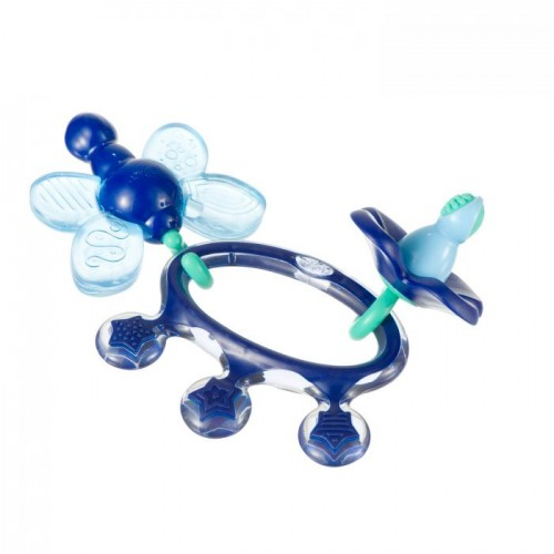 Difrax Crown Teething Ring Blue