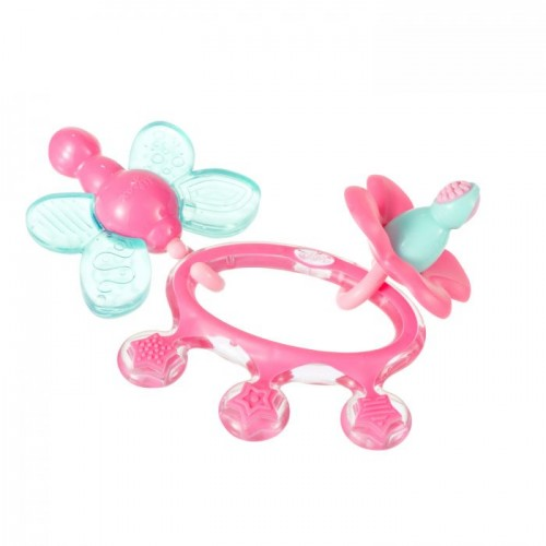 Difrax Crown Teething Ring Pink
