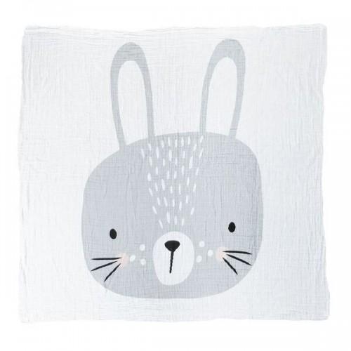 Mister Fly Bunny Face Muslin Wrap