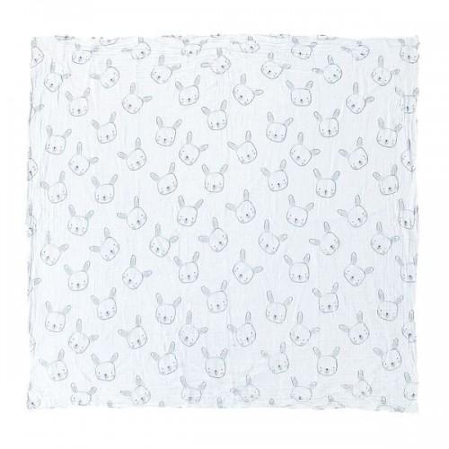 Mister Fly Bunny Print Muslin Wrap