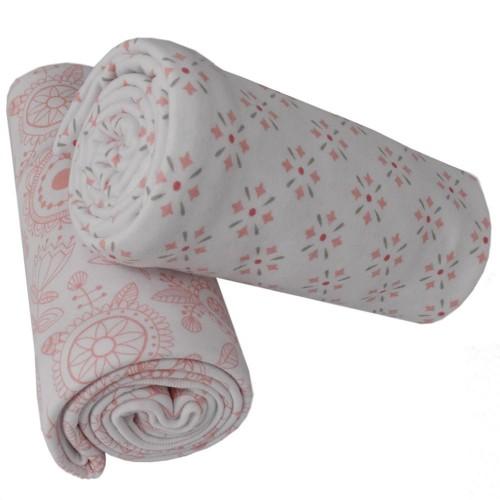 Living Textiles 2pk Jersey Wraps Gio Floral