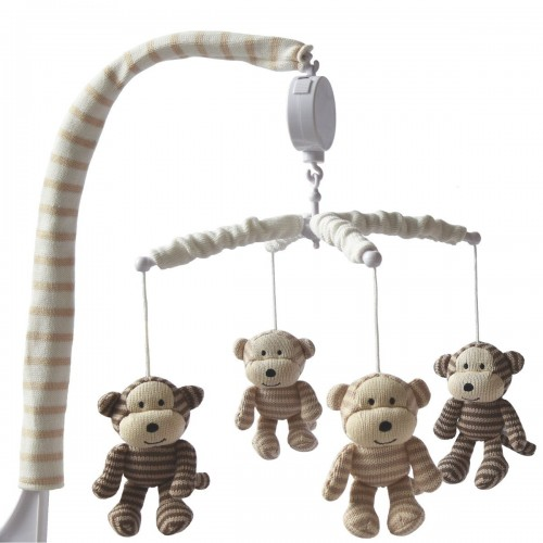 Living Textiles Musical Mobile Set Monkey