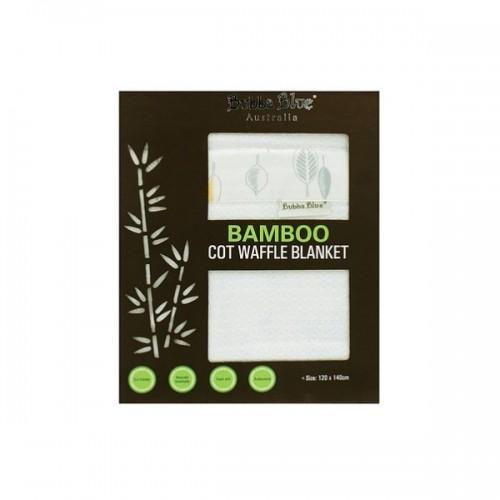 Bubba Blue Bamboo Cot Waffle Blanket Leaf