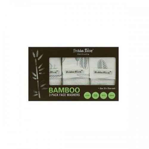 Bubba Blue Bamboo Face Washers Leaf
