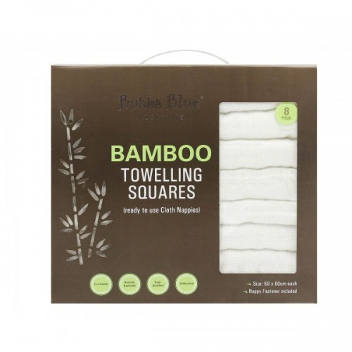 Bubba Blue Bamboo Towelling Nappies 8pk