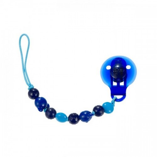 Difrax Heart Beads Soother Cord Blue