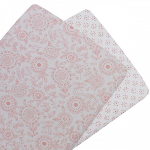 Living Textiles 2pk Bassinet Fitted Sheet Gio Floral