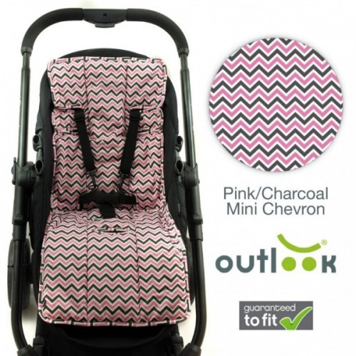 Outlook Cotton + Cotton Pram Liner Mini Chevron