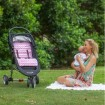 Outlook Cotton Pram Liner Pink Chevron
