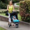 Outlook Cotton Pram Liner Teal Giraffe