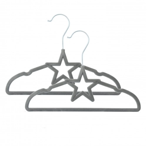 Living Textiles 6pk Baby Coat Hangers Grey Star