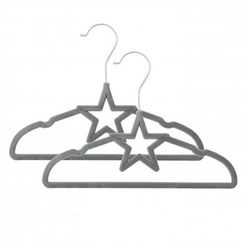 Living Textiles Baby Coat Hangers Grey Star